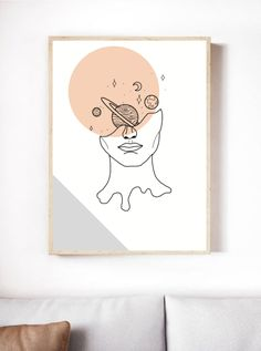 Small Canvas Paintings, Small Canvas Art, Mini Canvas Art, Diy Canvas, Modern Canvas Art, Abstract Face Art, Hippie Painting, Outline Art, Cool Art Drawings