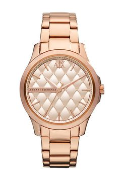 AX Armani Exchange 'Hampton' Quilted Dial Watch | Nordstrom
