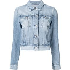 Denim Jacket ($295) ❤ liked on Polyvore featuring outerwear, jackets, coats, jean jacket, blue, denim jacket, blue jackets, blue denim jacket and blue jean jacket