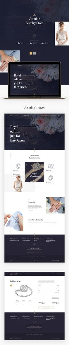 A web design for local jewellery store.