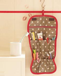 Kulturtasche zum Aufhängen aus www.brigitte.de Ideen zum selbermachen
