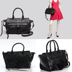 NWD Rebecca Minkoffblack Leather 'Bowery' Convertible Top Handle Tote Satchel   eBay