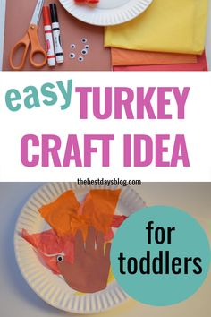 This Thanksgiving turkey craft is really easy to make. A fun activity to do with your toddler this year. Thanksgiving Crafts For Toddlers, Thanksgiving Turkey, Crafts For Kids, Tissue Paper Trees, Turkey Craft, Fun Activities To Do, Toddler Crafts, Halloween Crafts, Easy Crafts