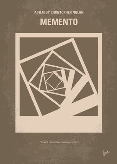 No243+My+Memento+minimal+movie+poster  A+man,+suffering+from+short-term+memory+loss,+uses+notes+and+tattoos+to+hunt+for+the+man+he+thinks+killed+his+wife.  Director:+Christopher+Nolan Stars:+Guy+Pearce,+Carrie-Anne+Moss,+Joe+Pantoliano  Memento,+Guy,+Pearce,+Carrie,+Anne,+Moss,+Leonard,+polaroid,+short,+term,+memory,