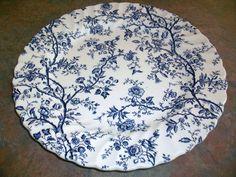 Johnson Brothers Old Bradbury Blue Bread Butter Plate