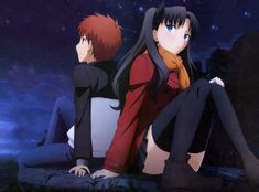 Anime Fate/Stay Night: Unlimited Blade Works Shirou Emiya Rin Tohsaka Papel de Parede