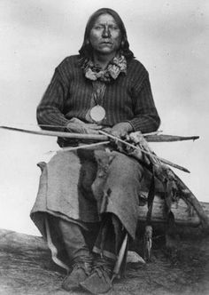 Satanta War Chief - Kiowa Tribe (c: 1820 - 1878) The first American Indian to be tried in U.S. Court (along with Big Tree and Satank) Satanta was a Kiowa war chief. He was a member of the Kiowa tribe and was born around 1820, during the height of the power of the Plains Tribes, probably along the Canadian River in the traditional winter camp grounds of his people. He was also known as Set'tainte (White Bear). One of the best known, and last, of the Kiowa War Chiefs.