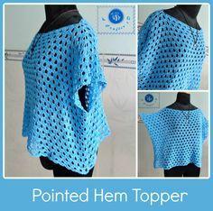 Sky Blue Crochet Top Pattern / FREE CROCHET pattern/ XL