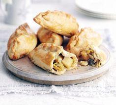 Leek, cheese & potato pasties- use pie crust for dough
