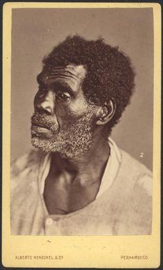 Portrait of Afro-Brazilian man, Pernambuco, by Alberto Herschel, ca. 1869.