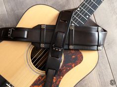 Custom Guitar Strap Rustic Leather Strap Handcrafted by JPDco