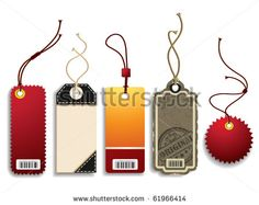 Price Tags - stock vector