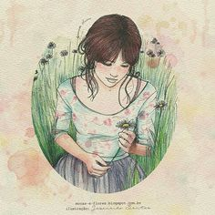 """""""Gosto de gestos delicados, palavras adocicadas, melodia que acalma a alma. Gosto de paz, sossego, silêncio. Eu sempre gostei de lugares menos movimentados, onde eu poderia ouvir o som do vento carregando as folhas. Sou brisa suave, tudo que um dia foi caos em mim, hoje é calmaria."""" (Aquarelismo)"""