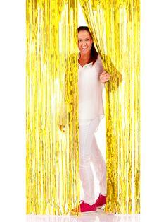 Folien-Türvorhang Party-Deko gold 2x1m. Aus der Kategorie Mottoparty Deko & Zubehör / 70er Jahre Party. Bringt Glitter ins Haus und eignet sich zur Inszenierung schwungvoller Auftritte!