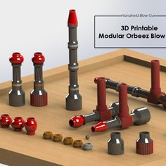 This free model contains: The Simple Base The Chamber 12 mm Diameter blowhole Main Nozzle Images of the Entire Modular Toy A Descriptive Assembly Report 3d Printing, Tools, Printed, Simple, Kids, Art, Children, Boys, Kunst
