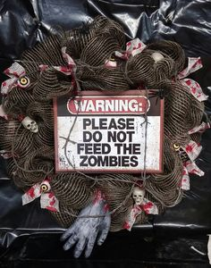 Halloween Zombie Wreath with free shipping in the by KimsDoorDecor, $65.00