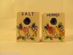 Vintage-Salt-Pepper-Shaker-China-Porcelain-Fruit-Japan-Marked-3-x-2-1-2-x-1