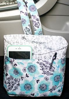 Great caddy for the car! Holds the cell phone and anything else that is always rolling around. You could use the larger area in back for a trash bin, if you'd like. Complete directions. I love this!