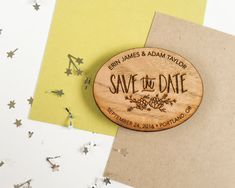 Wood Save the Date Magnets  save the date by papersushi on Etsy