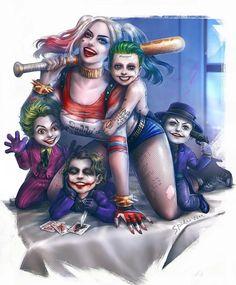Harley Quinn & Joker ^ ^ by Taweesak Riwsuksan thanks to ToolShiro for the heads up Harley Quinn Et Le Joker, Harley And Joker Love, Harley Quinn Drawing, Art Du Joker, Der Joker, Heath Joker, Joker Kunst, Image Joker, Marvel Dc