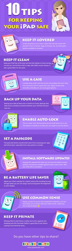 great tips for students! 10 Tips for Keeping Your iPad Safe