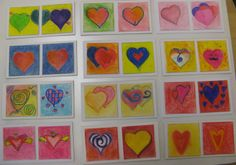 4th grade pastel valentines.