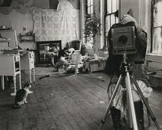 Francesca Woodman, self-portrait in her studio, Providence, Rhode Island c. 1976.