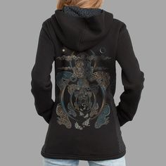 Visionary Women Hooded Jacket Sacred Geometry Buddha by symbolika