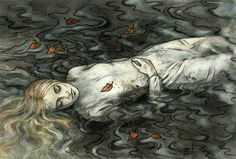 """""""…but she (Nienor) was not there, nor was it ever known whither the cold waters of Teiglin had taken her…"""" unhappy fate by ~liga-marta"""