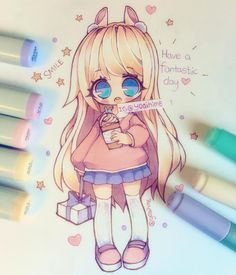 Just wanted to wish everyone a happy fantastic day (。・ω・。)ノ♡ I hope something good happens to you today~ (´・ω・`) #chibi #instaart #instadraw #instaanime #instamanga #kawaii #cute #moe #oc #anime #manga #mangaart #mangagirl #mangastyle #animegirl #copicart -----materials: #copic #markers #copicmarkers #micron #fineliner #uniball #gelpen #cansonpaper ----------- •Artwork (c) yoaihime ~All Rights Reserved~ Do not steal, trace, edit, or reproduce/redraw my artwork~ •No…