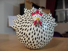 Paper Mache Chicken- By Stefanie Gibbons-Pope