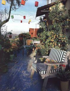 Bohemian style veranda