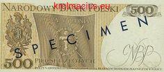 POLSKA Specimen 500 zł / 1974 r. X - z BŁĘDEM (1) Sklep Numizmatyczny ul. Króla Maciusia 12, 04-526 Warszawa