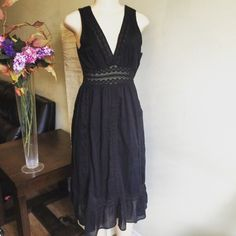 """Spotted while shopping on Poshmark: """"Boho Style Black Dress""""! #poshmark #fashion #shopping #style #Dresses & Skirts"""