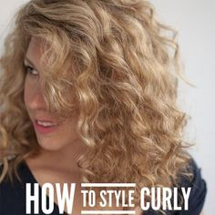 Hair Romance - How to style curly bangs fringes