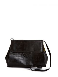Croc Embossed Leather Bag | NiftyThrifty - Rare Finds Everyday