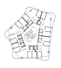 Zaha Hadid Architecture, Architecture Plan, Architecture Details, Mix Use Building, Building Plans, Townhouse Apartments, Parque Industrial, Hotel Floor Plan, Oahu