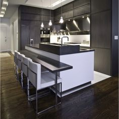 Tiled Kitchen with Wooden Flooring? LIKE!