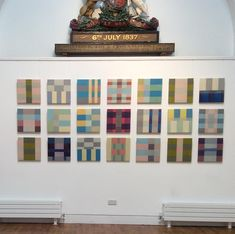 """Karen Loader on Instagram: """"Altered States opens at Highgate Gallery 28 April 6pm #exhibition #abstractart #geometry #highgate#grids"""" Geometry, Abstract Art, Photo Wall, 28 April, Quilt Art, Quilts, Photo And Video, Gallery, Frame"""