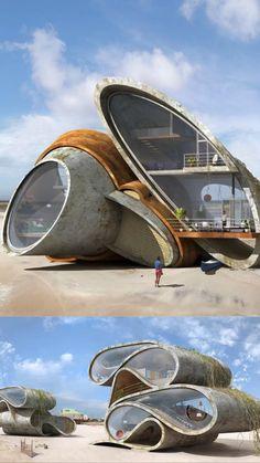 Innovative Architecture, Architecture Portfolio, Futuristic Architecture, Sustainable Architecture, Amazing Architecture, Contemporary Architecture, Art And Architecture, Architecture Details, Unique Buildings