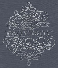 Have a Holly Jolly Christmas | Urban Threads: Unique and Awesome Embroidery Designs