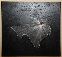 The Love Star State 3D String Art by whitrose on Etsy, $60.00