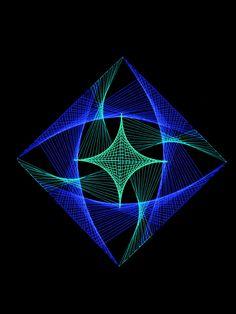 "90x90cm StringArt Deko ""Psy Galaxy""  #blacklight #schwarzlicht #neon #psy #deco #string #art #stringart"