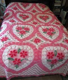 Beautiful Bed Spread Vintage Hippie, Vintage Love, Retro Vintage, Vintage Stuff, Vintage Interiors, Vintage Textiles, Vintage Quilts, Vintage Bedspread, Bedroom Vintage