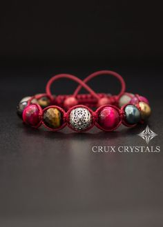 Hey, I found this really awesome Etsy listing at https://www.etsy.com/listing/210056626/shamballa-bracelet-red-velvet-natural