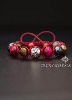 Hey, I found this really awesome Etsy listing at https://www.etsy.com/listing/210056626/shamballa-bracelet-red-velvet-natural