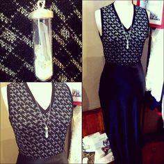#retro #stmichaels #silver #thread #knit #vest $25 #sterlingsilver #tube #filled with #crystal #fragments $80 #vintage #silky #smooth #satin #black #maxi #skirt $49 #elegant #silk #necklace #jewels #jewellery #dining #out #dressedup #dressy
