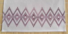 Tea Towel Dish Towel Swedish Weaving in Grape Swirl by SnowboundMe