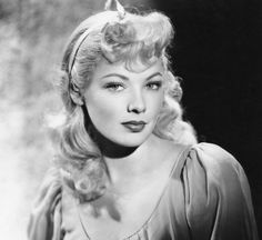 Gene Tierney (November 19, 1920 - November 6, 1991) as a blonde, photograpphd 1945. age 25