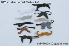 Sylvie Liv: DIY Mustache Set Tutorial Christmas Idea